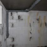 Abwasserleitung im Keller