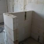 Abtrennung Toiletten - Badewanne