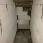 Abmauerung unter der Kellertreppe