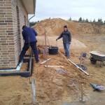 Stephan und Schwiegervater bei der Arbeit