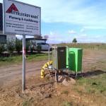 Baustrom / Bauwasser / Bauschild