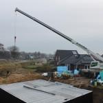 Der Baustahl für die Garage