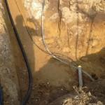Leitungen an der Grundstücksgrenze