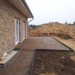 Terrasse mit Mineralienmischung